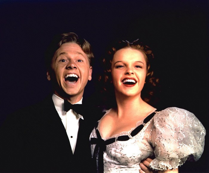 Mickey Rooney and Judy Garland in 1939