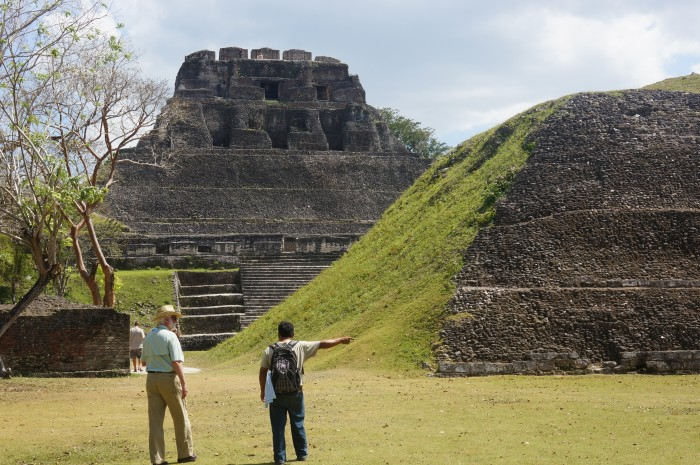 Wayne Clough, Jorge Can, northern facade of El Castillo at Xuantunich, Belize