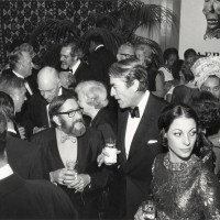 Warren M. Robbins, Founder and Director Emeritus of the Museum of African Art, with Actor Gregory Peck, and Veronique Peck PHOTOGRAPHER, DATE Eliot Elisofon Photographic Archives National Museum of African Art Smithsonian Institution