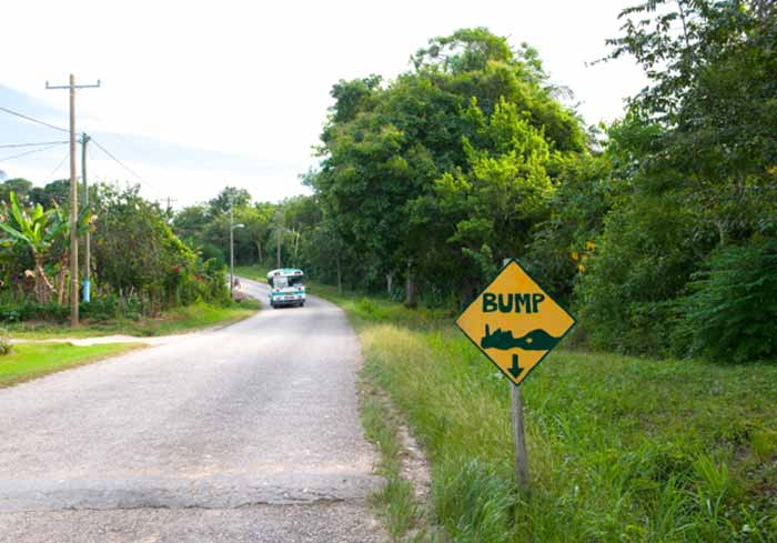 "Speed bumps are also known as frequently called ""sleeping policemen"" in Belize. (Photo via Wikimedia Commons)"