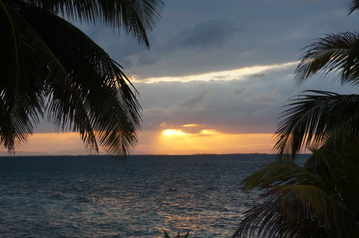 Sunset, Carrie Bow Cay, Belize