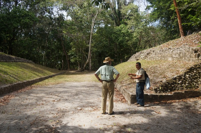 The Mayan ball court at Xunantunich (Photo by John Gibbons)