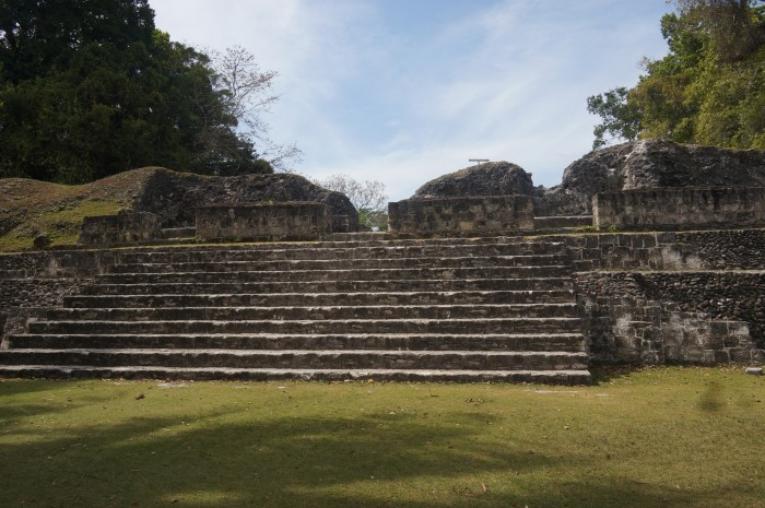 The western side of the central plaza, Xunantunich, Belize, Maya