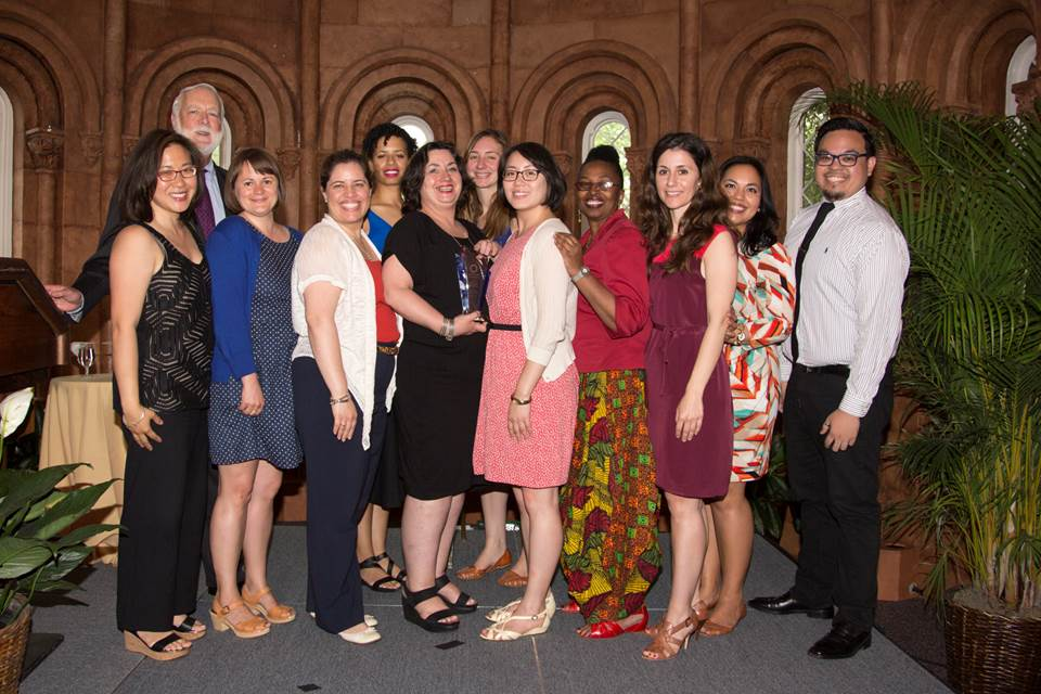 From left, Sharon Mei Mah, Secretary Clough, Sarah Freeman, Kimberly Cisneros, Halima Johnson, Caroline Payson, Amanda Kesner, Michelle Cheng, Assistant Secretary for Education and Access Claudine Brown, Vasso Giannopoulos, Jessica Nuñez and James Reyes.