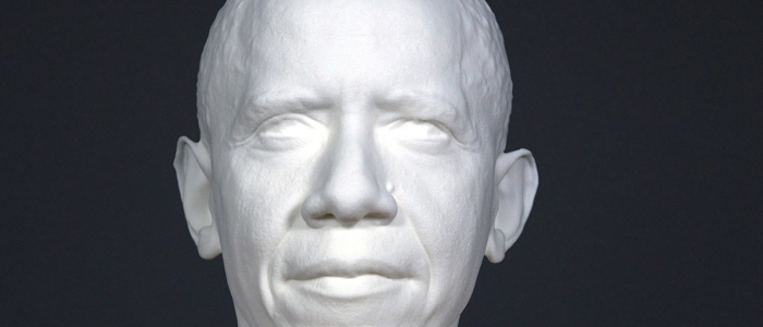 Smithsonian makes history with first scanned 3-D Presidential portrait