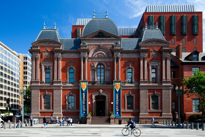 Exterior view of the Renwick Gallery, home of the Smithsonian American Art Museum's craft and decorative art program in Washington, D.C. (Photo by Joshua Yetman)
