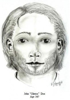 Artist's sketch issued by the Rock County Coroner's Office showing what John Clinton Doe may have looked like at age 16.