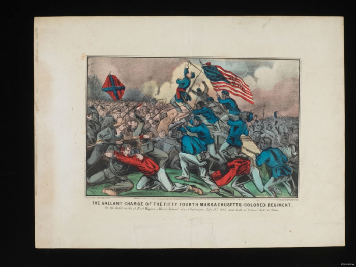 Depiction of the battle of Fort Wagner