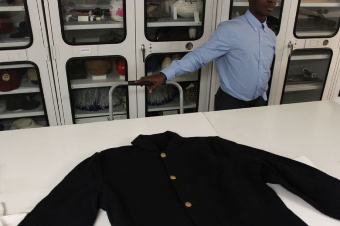 The uniform jacket Slater wore in the film, now part of the museum's collections