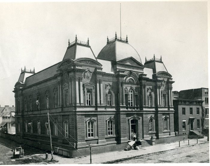 Corcoran Gallery under construction in 1861