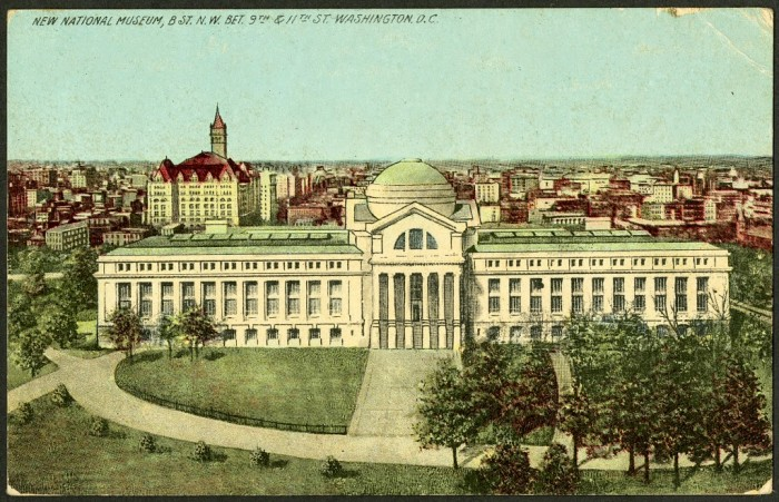 Postcard of the National Museum of Natural History, c. 1910-1915,  Smithsonian Institution Archives, SIA2013-07214