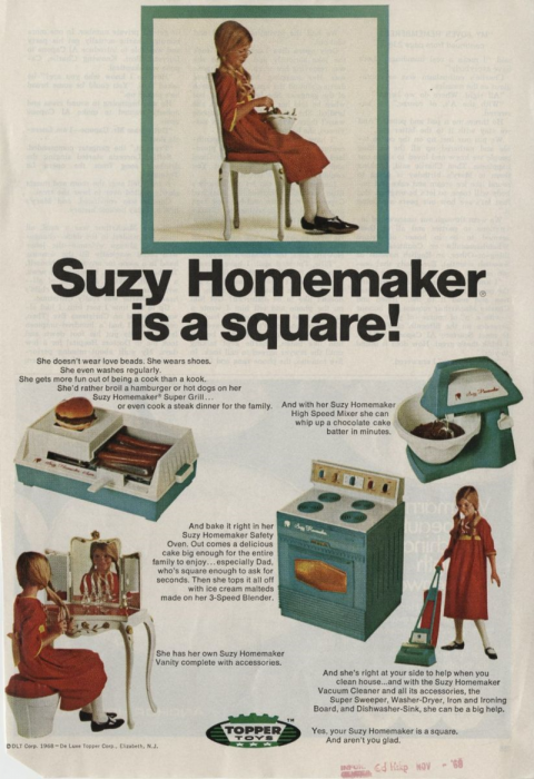 Suzy Homemaker advertisement, John W. Hartman Center for Sales, Advertising & Marketing History, Duke University David M. Rubenstein Rare Book & Manuscript Library. Via their blog.