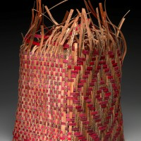Shan Goshorn (Eastern Band of Cherokee, b. 1957), Pieced Treaty: Spider's Web Treaty Basket, 2007, Tulsa, Oklahoma Paper, paint (Photo by Ernest Amoroso)
