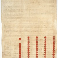 The Treaty of Canandaigua, 1794 Parchment, ink, resin and wafer seals, ribbon. National Archives, Washington, D.C.