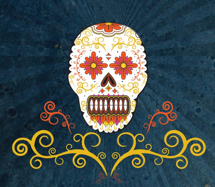 """A traditional """"Day of the Dead"""" design"""