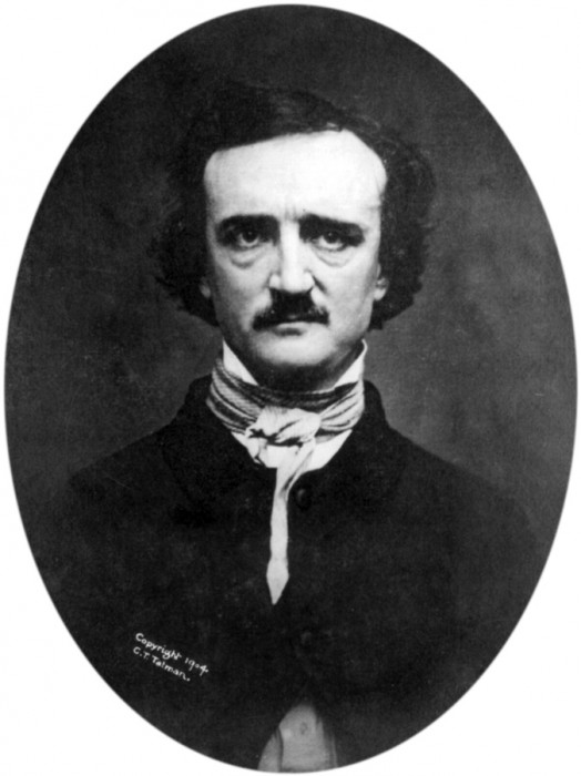 "1848 ""Ultima Thule"" daguerreotype of Poe  Somewhat retouched and with transparent background. Original daguerreotype taken by Edwin H. Manchester, photographer employed by the Masury & Hartshorn firm (second floor of 25 Westminster Street) of Providence, Rhode Island, on the morning of November 9th, 1848."