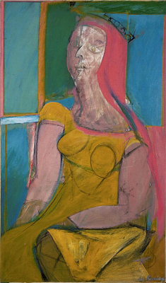 Willem de Kooning, American, b. Rotterdam, The Netherlands, 1904–1997 Oil and charcoal on fiberboard, 46 1/8 x 27 5/8 in. (117 x 70 cm) Hirshhorn Museum and Sculpture Garden, Smithsonian Institution, Washington, DC, Gift of the Joseph H. Hirshhorn Foundation, 1966