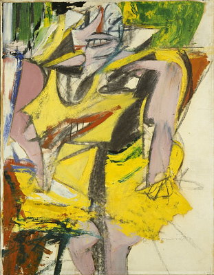 Woman 1953 Willem de Kooning, American, b. Rotterdam, The Netherlands, 1904–1997 Oil and charcoal on paper mounted on canvas, 25 5/8 x 19 5/8 in. (64.9 x 49.8 cm) Hirshhorn Museum and Sculpture Garden, Smithsonian Institution, Washington, DC, Gift of Joseph H. Hirshhorn, 1966
