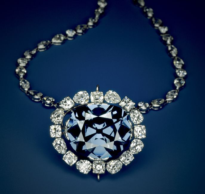 The Hope Diamond in the setting designed by Cartier prior to the sale of the Hope to Evalyn Walsh McLean in 1912. (Photo by Chip Clark)