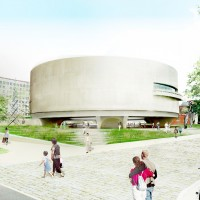Proposed View of the Hirshhorn Museum from Seventh Street