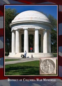 District of Columbia War Memorial. Dedicated by President Herbert Hoover on Nov. 11, 1931, the memorial commemorates the citizens of District of Columbia that served in WWI.