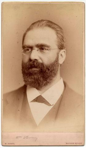 William Steinway, circa 1882, photo by William Kurtz, New York City. Courtesy Henry Z. Steinway archive.