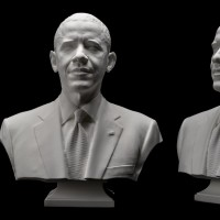 presidential portrait created using 3-D technology. The prints and the 3-D data are now part of the collection of the National Portrait Gallery.