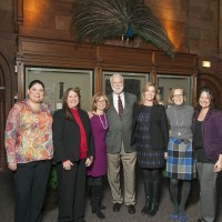 Secretary Clough with the staff of the Office of Special Events and Protocol. From left, KJ Jacks, Cheryl Gibney, Katie Desmond, Dr. Clough, Karen Keller, Elizabeth Kendler, Nicole Camilleri. (Photo by Eric Long)