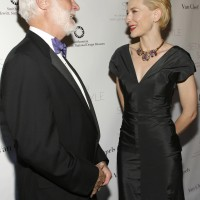 Secretary Clough with actress Cate Blanchett at the opening of Set in Style: The Jewelry of Van Cleef and Arpels at Cooper Hewitt, the Smithsonian Design Museum.
