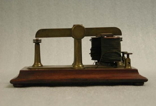Though Secretary Henry's office was destroyed in the fire, along with much of his personal correspondence, some artifacts related to him, like this telegraph sounder, survived and were transferred to Smithsonian's collections in 1895
