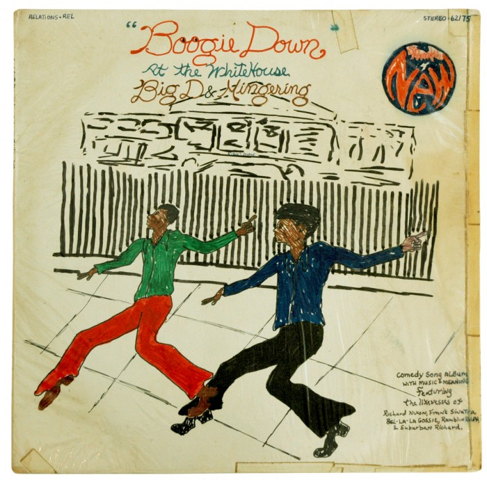 "The Big ""D"" & Mingering ""Boogie Down at the White House"" (Relations Records, 1975) Album cover"