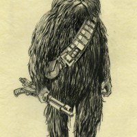 Concept art of Chewbacca from Star Wars™: A New Hope. TM &©2014 Lucasfilm Ltd. All Rights Reserved. Used under authorization