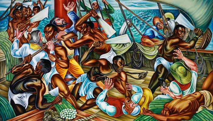 """The Mutiny on the Amistad,"" 1939 Hale Woodruff (Collection of Savery Library, Talladega College, Talladega, Alabama / National Museum of African American History and Culture)"