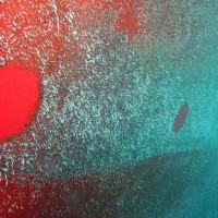 The clean circle on the ship's hull designates where the researchers have collected samples of the biofilms. (Photo by Ian Davidson)