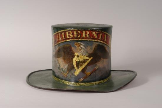 Fire hat, mid-19th centyury