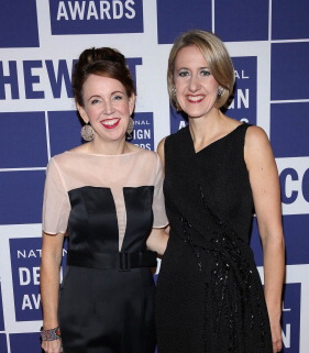 Jennifer Northrop, left, with Caroline Bauman, director of Cooper Hewitt, Smithsonian Design Museum at the recent National Design Awards. (Photo by Rom Kim/Getty Images)