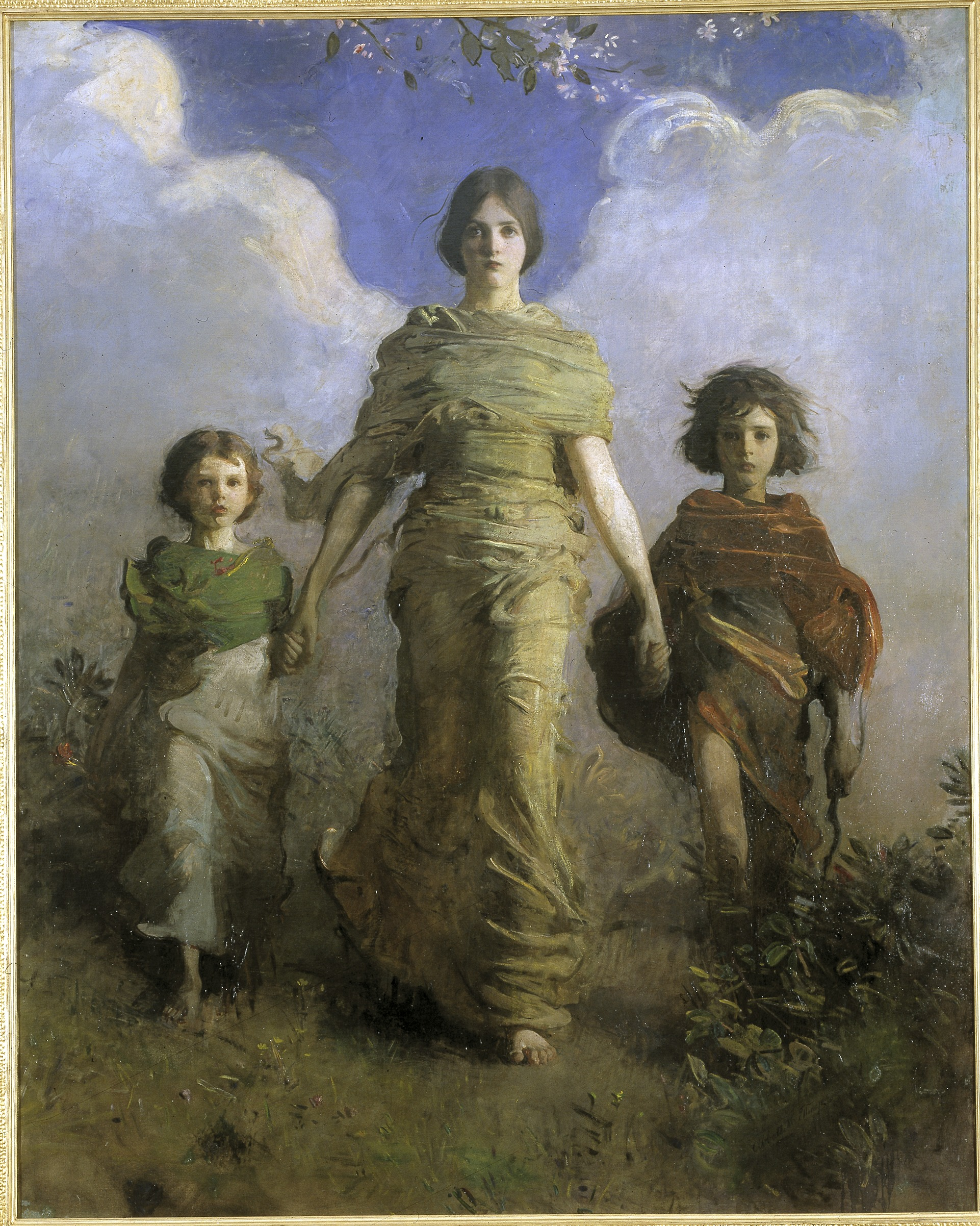 """""""A Virgin"""" by Abbott Handerson Thayer, 1849-1921. Oil on canvas. Gift of Charles Lang Freer, Freer and Sackler Galleries."""
