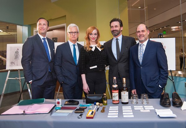 From left,  Charlie Collier, president of AMC; John Slattery; Christina Hendricks; Jon Hamm, Matthew Weiner, series creator, writer, director and executive producer. (Photo by Richard Strauss / National Museum of American History)