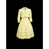 "The yellow housedress worn by January Jones as Betty Draper in season 1, episode 4 of ""Mad Men."" (National Museum of American History)"