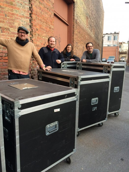 """The """"New Harmonies"""" crates arrive at the Birthplace of Country Music Museum (Photo courtesy of BCMM)"""
