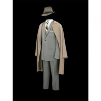 "The gray suit and fedora worn by Jon Hamm as Don Draper in all seven seasons of ""Mad Men."" (National Museum of American History)"