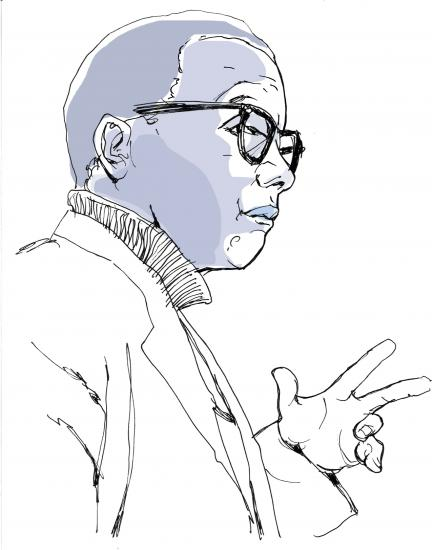 Sketch of Billy Strayhorn courtesy of Keith Henry Brown