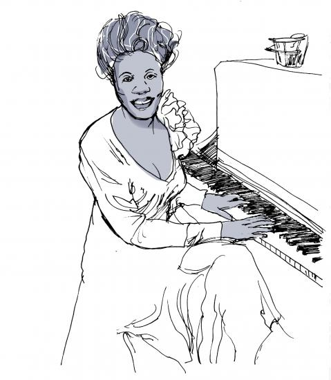 Sketch of Mary Lou Williams courtesy of Keith Henry Brown