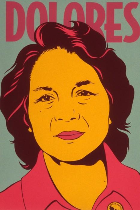 "Dolores Huerta Barbara Carrasco (born 1955) 1999 Silkscreen, 78.7 × 61cm (31 × 24"") National Portrait Gallery, Smithsonian Institution, © 1999 Barbara Carrasco"