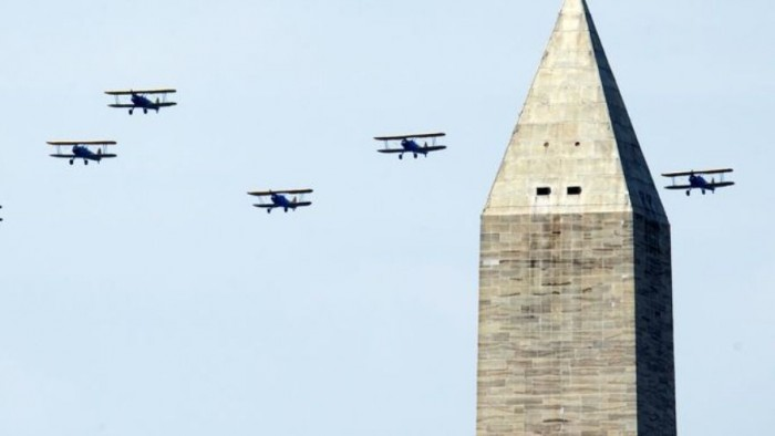 WWiI Capitol Flyover, May 8, 2015. (AP Photo by Nikki Burdine via WUSA)