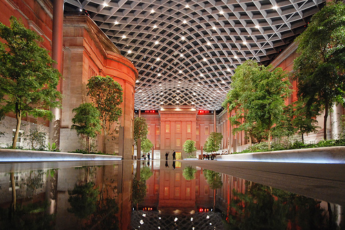 The renovation of the Reynolds Center included the dramatic and innovative Robert & Arlene Kogod Courtyard. (Photo courtesy Foster + Partners)