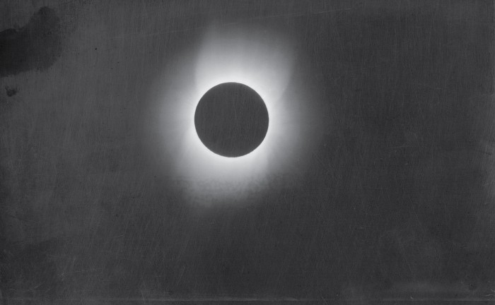 May 28, 1900 solar eclipse photographed by Smithsonian photographer Thomas Smillie. (Via Smithsonian Institution Archives)