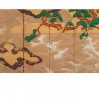 Waves at Matsushima (Matsushima-zu). Tawaraya Sōtatsu; Japan, Edo period, 17th century; Pair of screens (six panel); ink, color, gold, and silver on paper; H x W: 166 x 369.9 cm (65 3/8 x 145 5/8 in); Gift of Charles Lang Freer, F1906.231-232; Freer Gallery of Art, Smithsonian