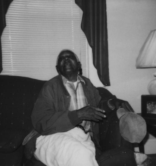 Junius Wilson after his release from institutionalization in the 1990s.
