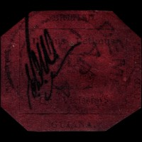 The world's rarest postage stamp, the 1856 British Guiana One-Cent Magenta is on view at the National Postal Museum.